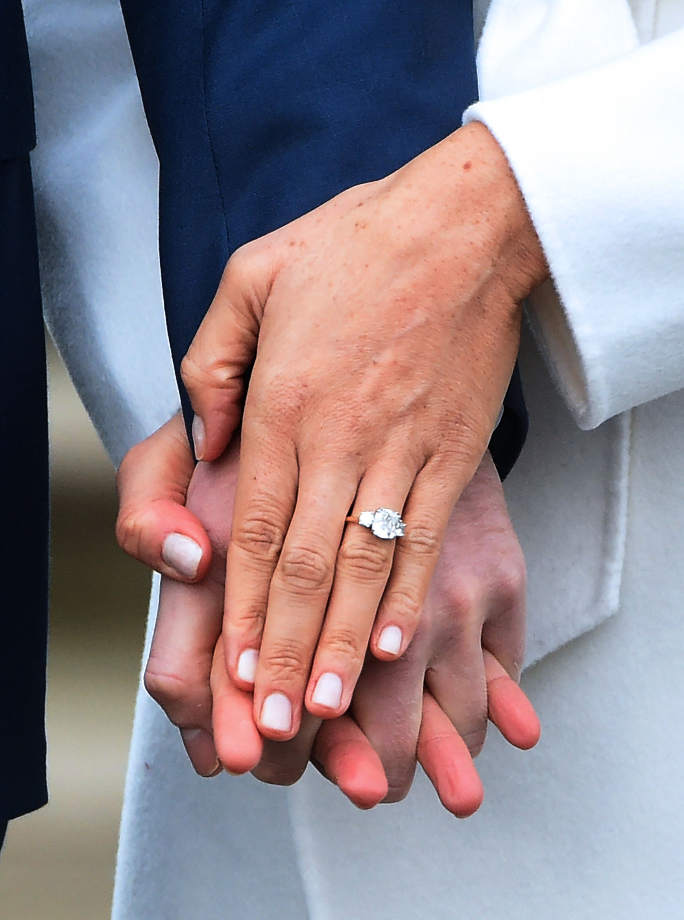 Prince Harry and Meghan MarklePrince Harry and Meghan Markle engaged, London, United Kingdom - 27 Nov 2017Britain's Prince Harry poses with his fiancee, US actress Meghan Markle during a photocall after announcing their engagement in the Sunken Garden at Kensington Palace in London, Britain, 27 November 2017. Clarence House said in a statement that the couple's wedding ceremony will take place in spring 2018.