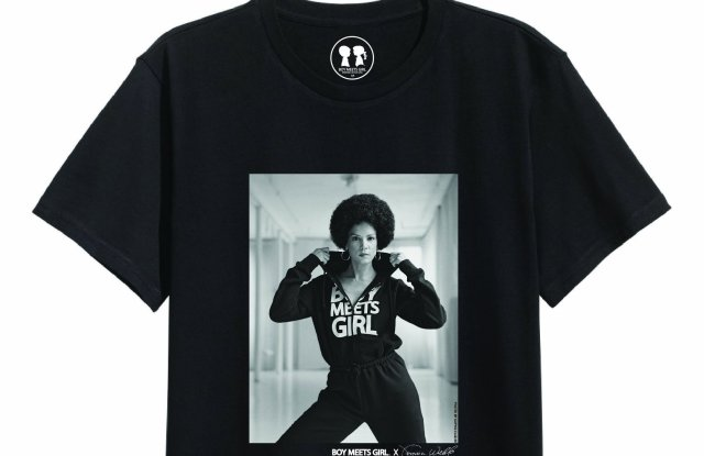 A T-shirt from the Boy Meets Girl Black Label x Veronica Webb collection.