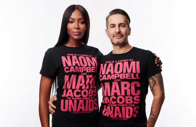 Naomi Campbell Marc Jacobs World AIDS Day T-Shirt