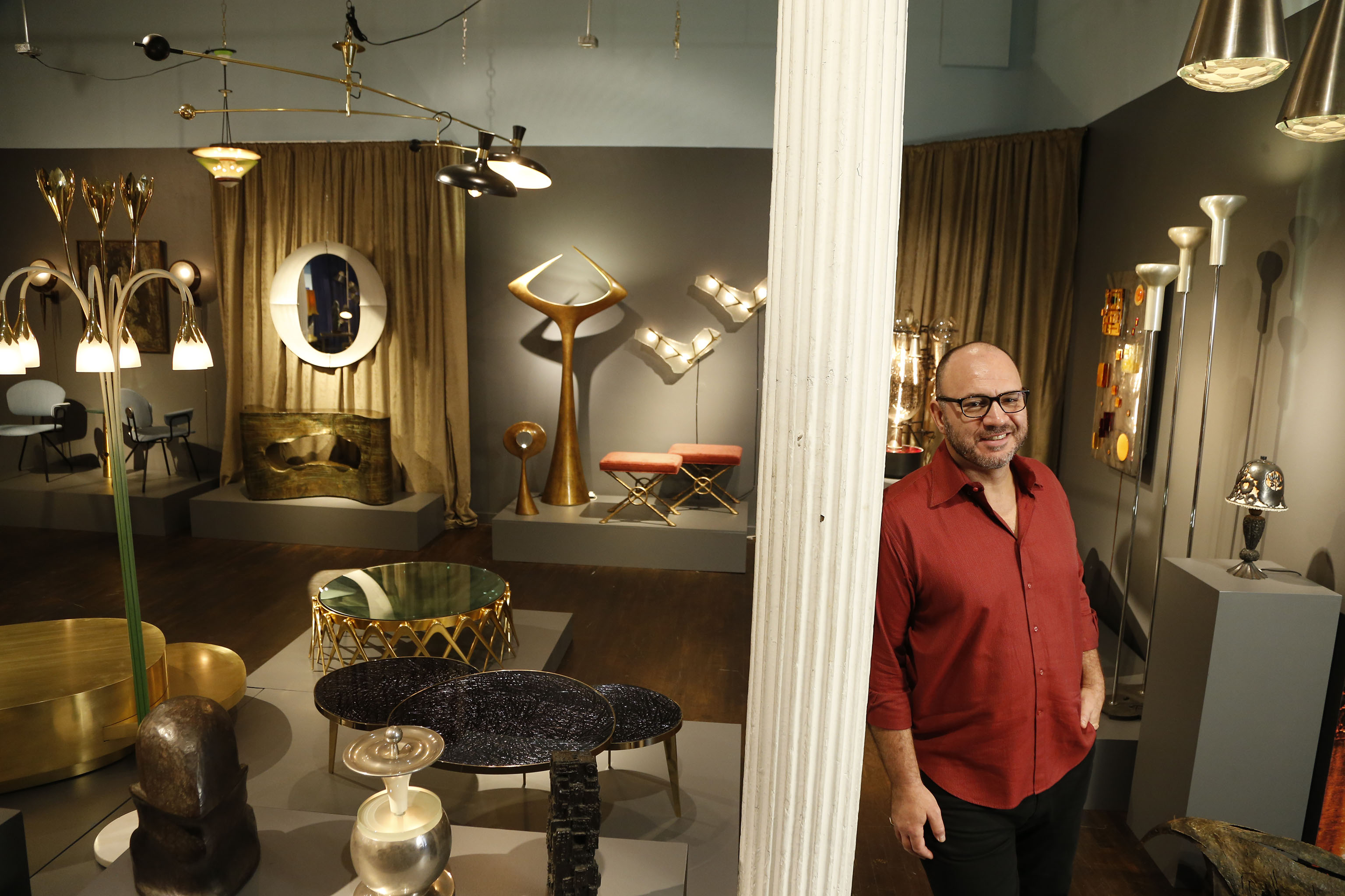 Paul Donzella in his Tribeca gallery