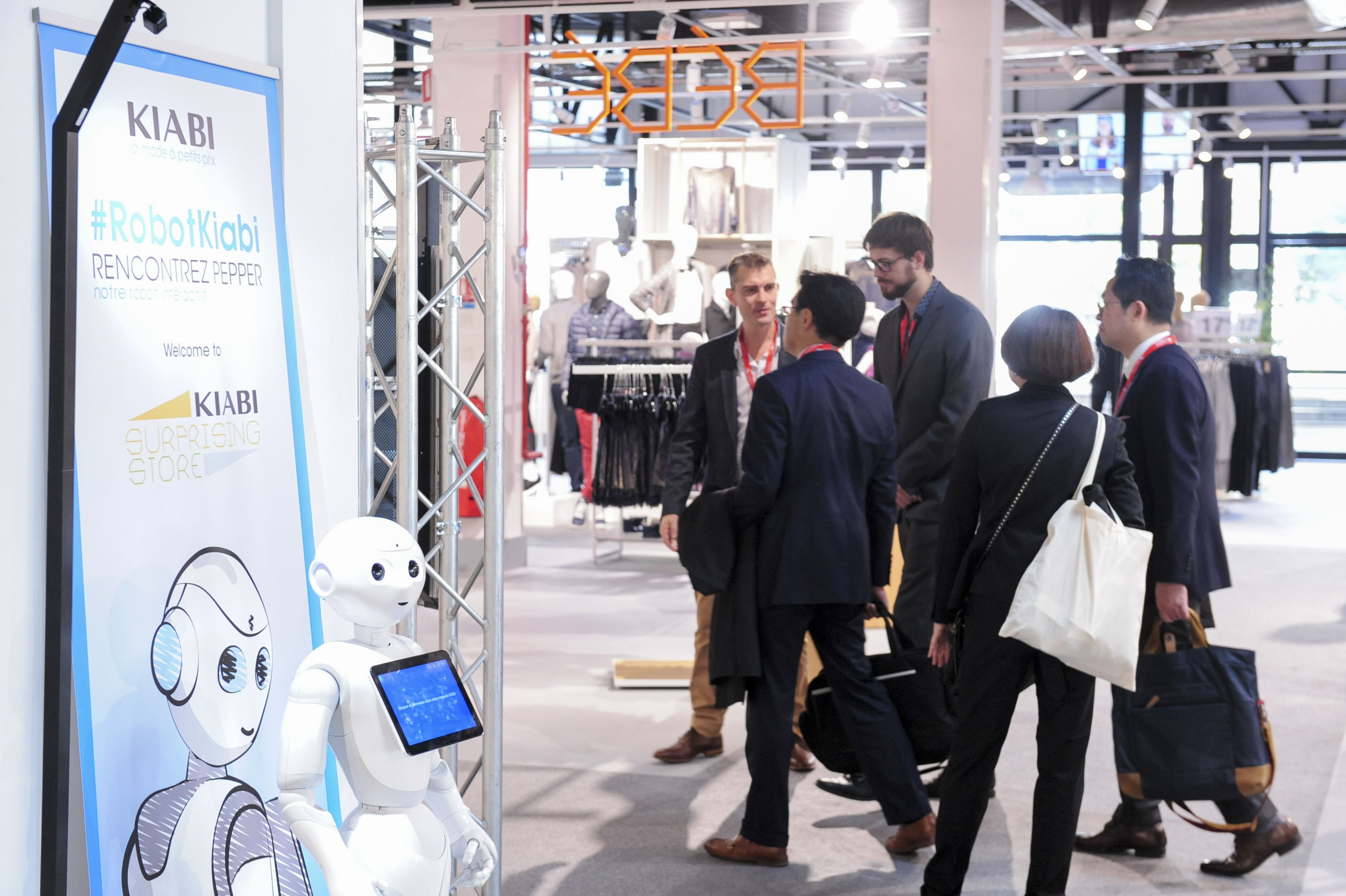 Attendees are greeted by the Kiabi Robot at last year's MAPIC event.