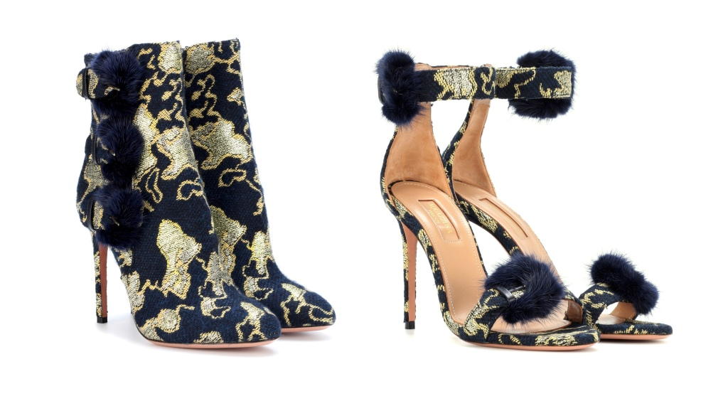 Aquazzura x Mytheresa.com 'Sinatra' booties and sandals.