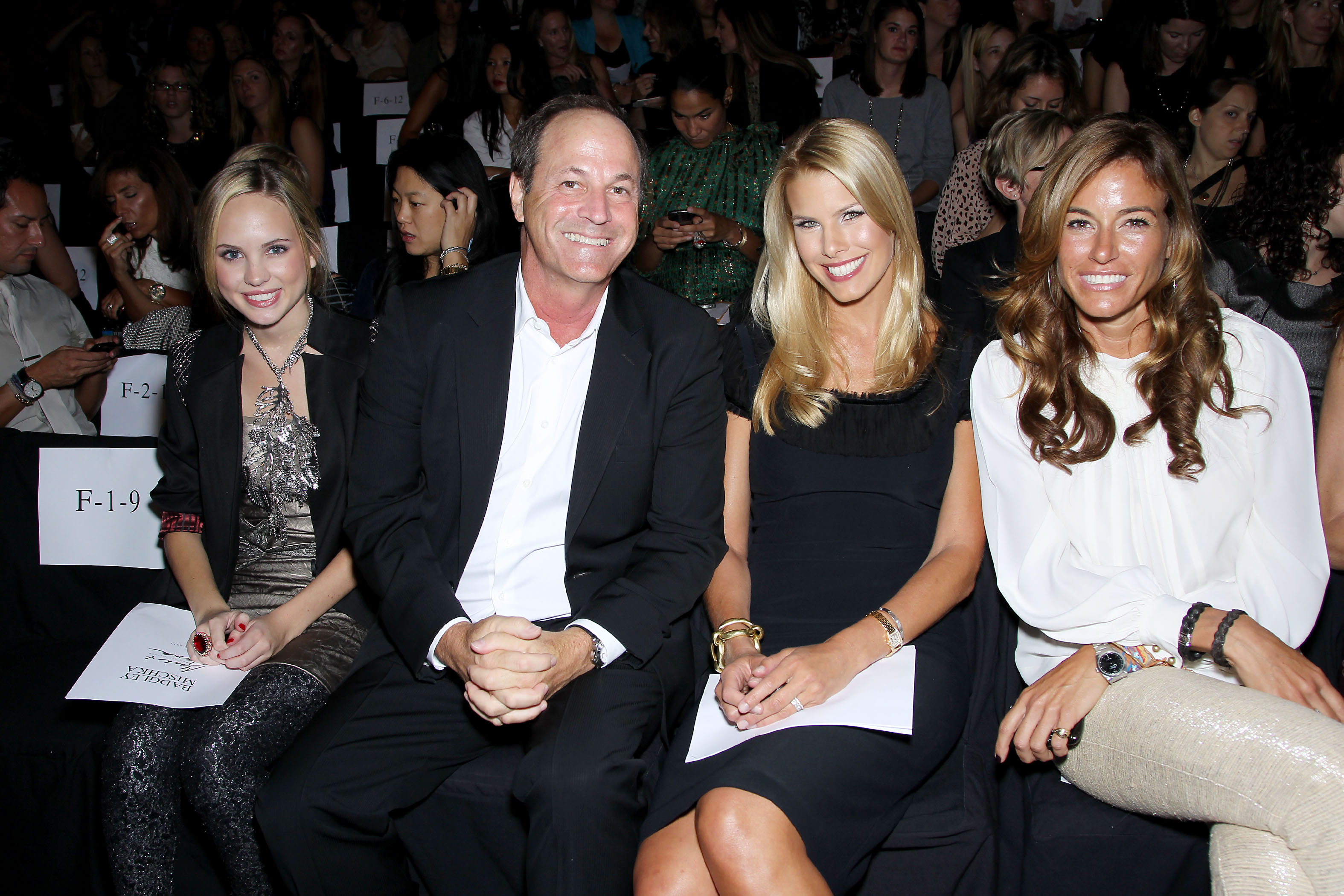 Meaghan Martin, Neil Cole (Iconix Brand Group - Chairman), Beth Ostrosky Stern, Kelly BensimonBadgley Mischka Show Spring 2011, Mercedes-Benz Fashion Week, New York, America - 14 Sep 2010