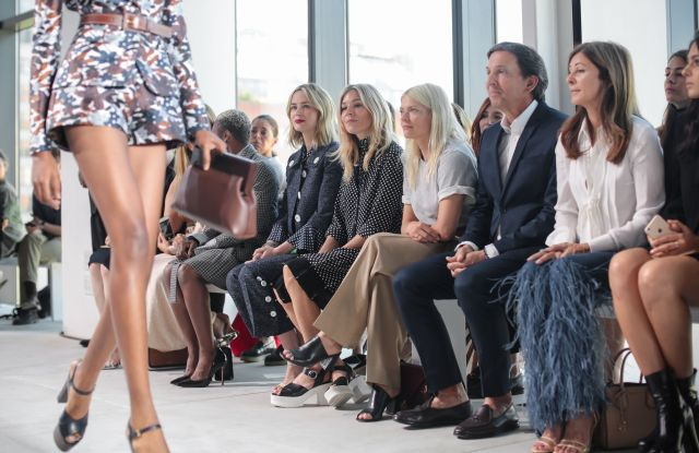 Cynthia Erivo, Emily Blunt, Sienna Miller, John Idol in the front rowMichael Kors show, Spring Summer 2017, New York Fashion Week, USA - 14 Sep 2016