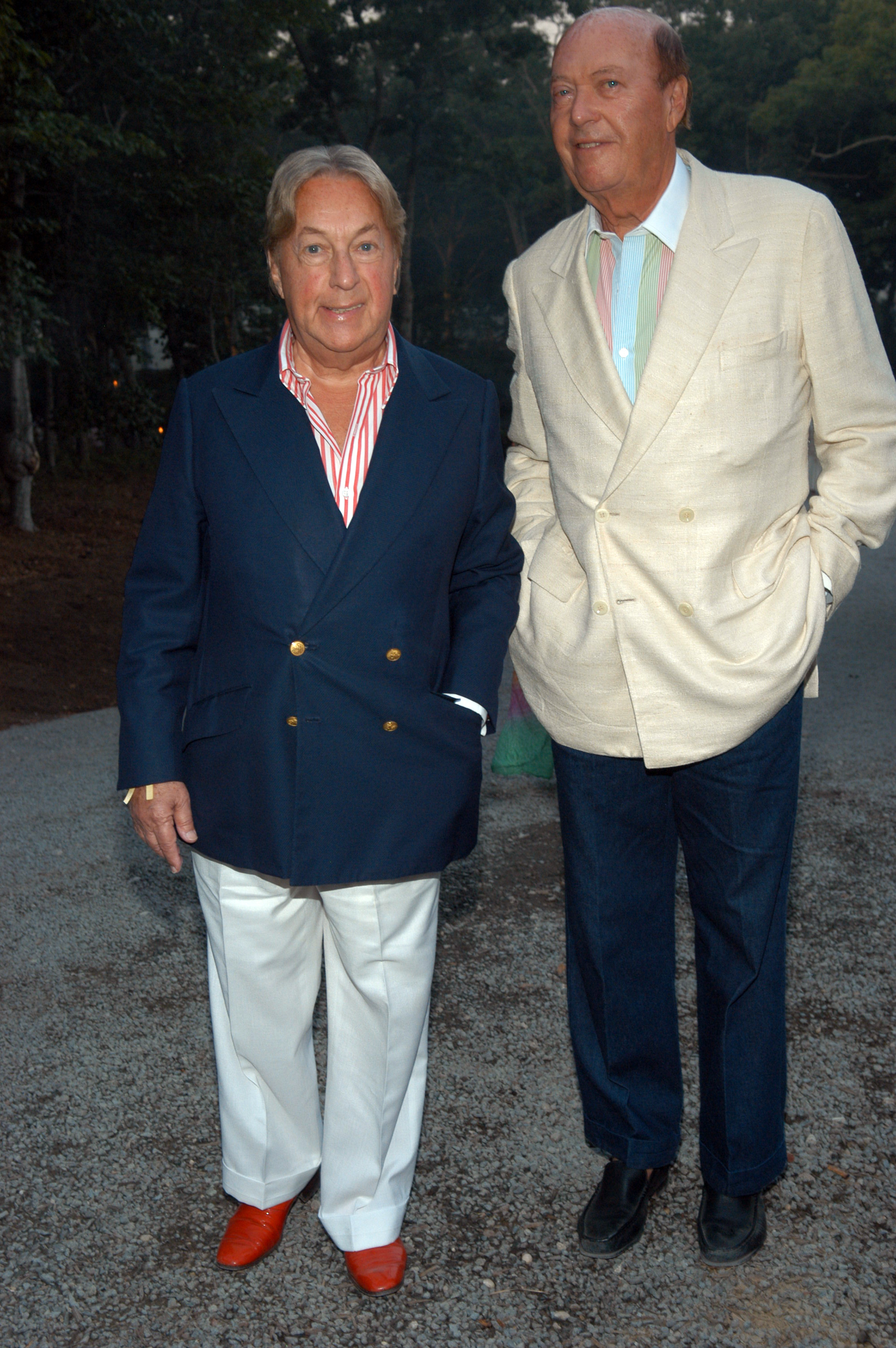 Arnold Scaasi (L) and Parker Ladd attend Watermill Center's 12th Annual Summer Benefit. The Center, founded by Robert Wilson in 1992, this summer hosted artists-in-residence from 32 countries who transformed the grounds for the Amazon-themed benefit.Watermill Centers 12th Annual Summer Benefit, Water Mill