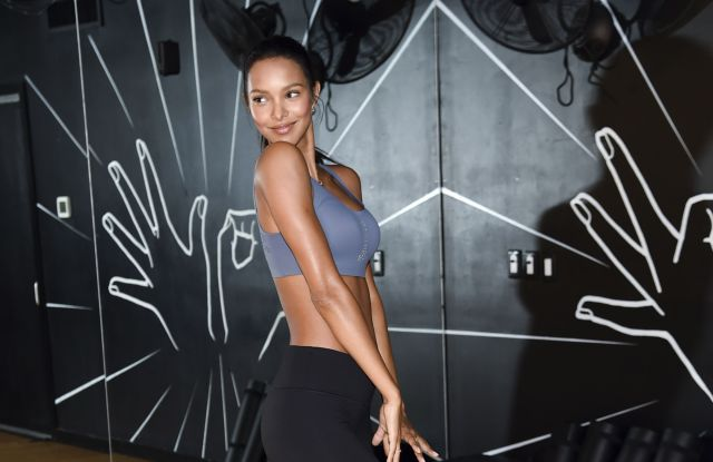 """Victoria's Secret model Lais Ribeiro participates in """"Train Like An Angel"""", in preparation for the upcoming Victoria's Secret Runway Show in Shanghai, at 305 Fitness, in New YorkVictoria's Secret Training With Lais Ribeiro, New York, USA - 26 Sep 2017"""