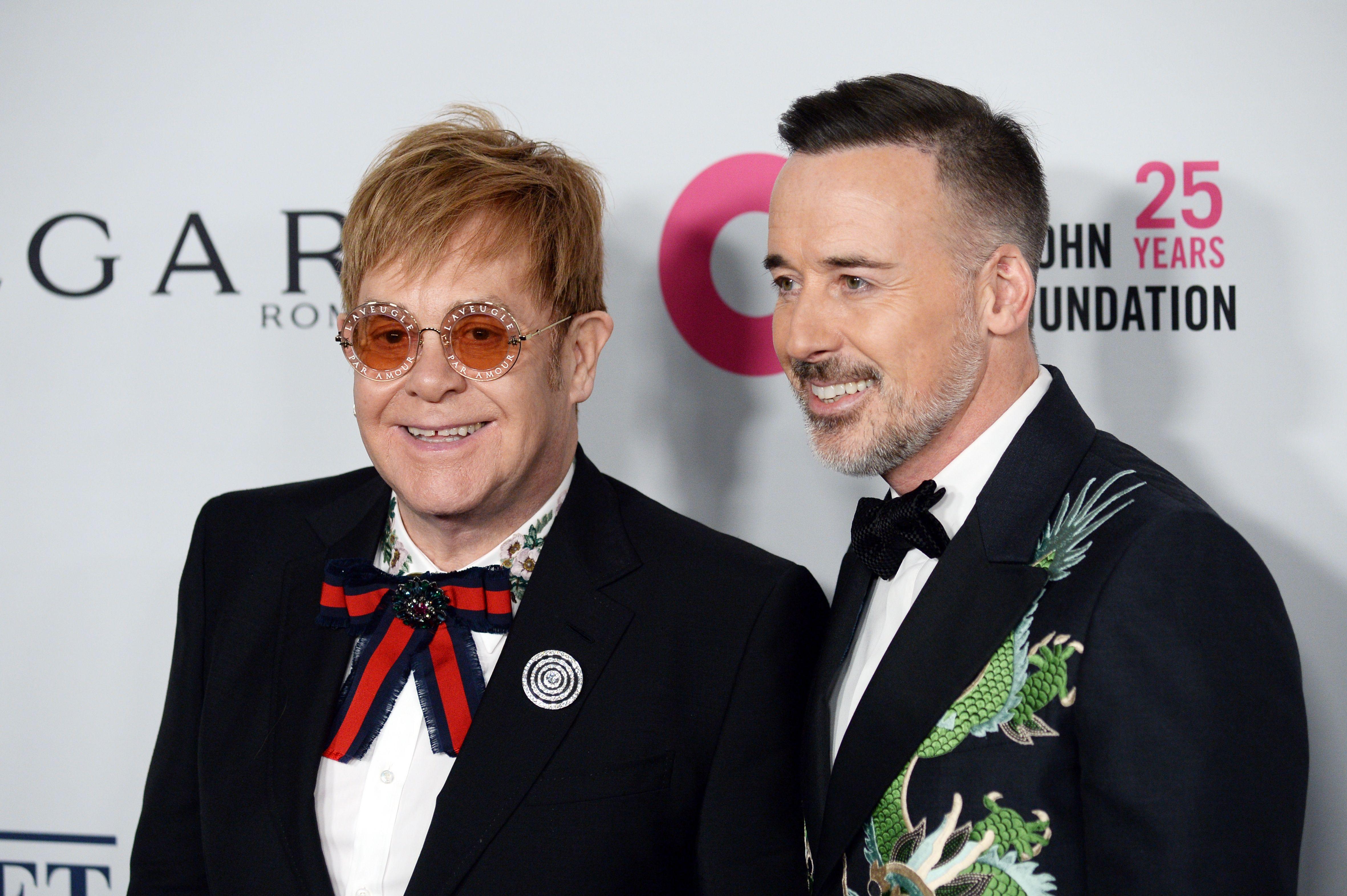 Sir Elton John, David FurnishElton John Aids Foundation Fall Gala, Arrivals, New York, USA - 07 Nov 2017