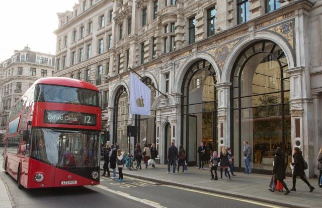The Apple flagship on Regent Street, London