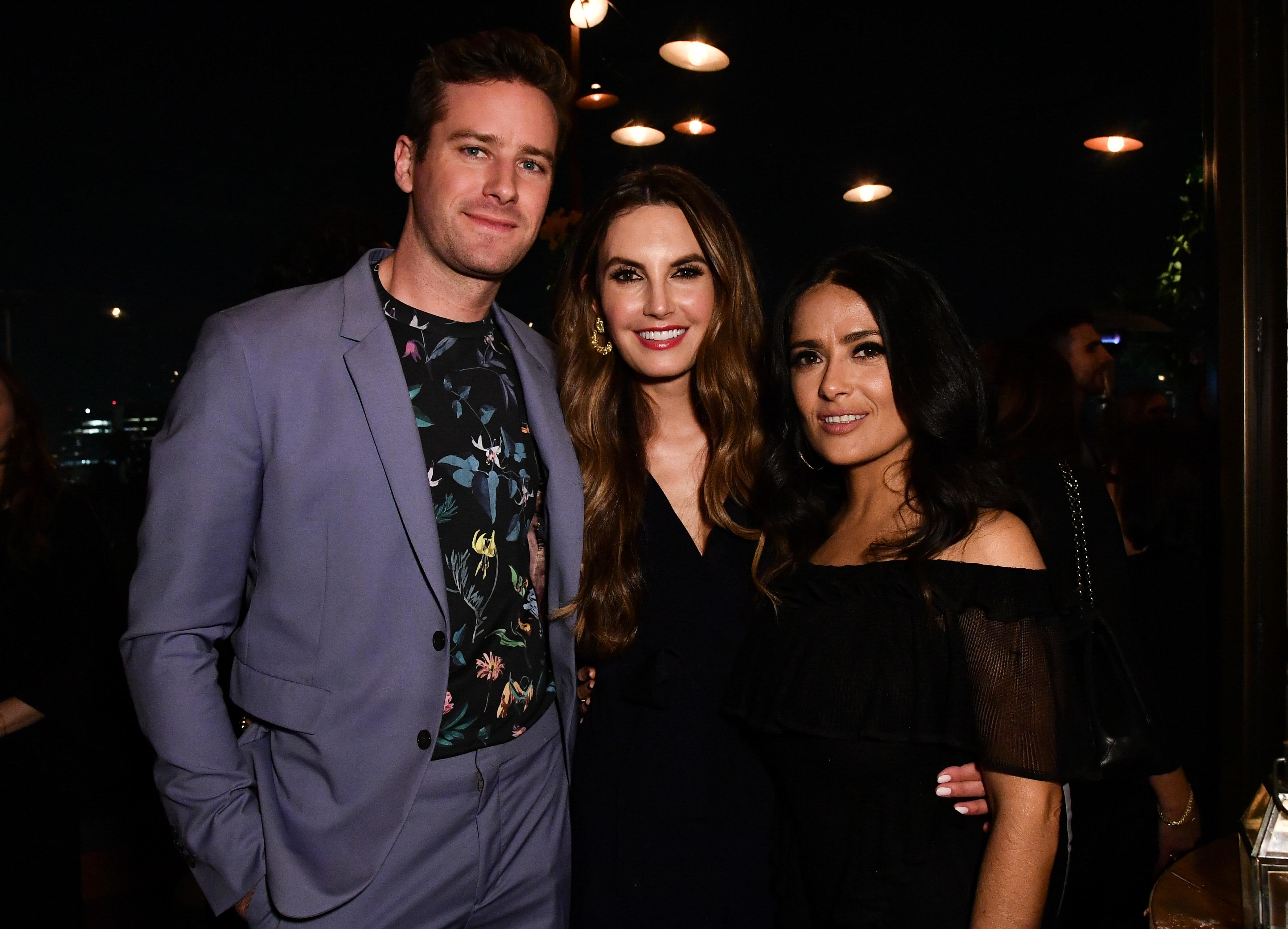 Armie Hammer, Elizabeth Chambers and Salma HayekHFPA and InStyle celebrate Golden Globe Season, Inside, Los Angeles, USA - 15 Nov 2017