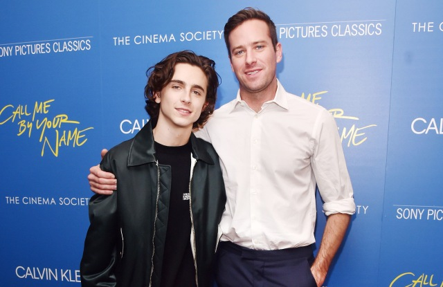 Timothee Chalamet, Armie Hammer'Call Me By Your Name' film screening, Arrivals, New York, USA - 16 Nov 2017