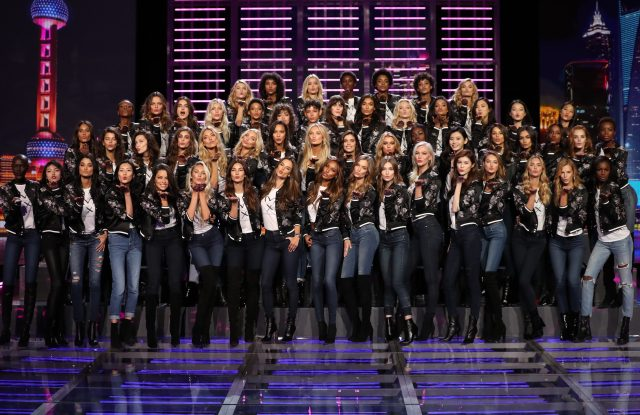 Victoria's Secret models gathered on Nov. 18 for a photo call in Shanghai, China.