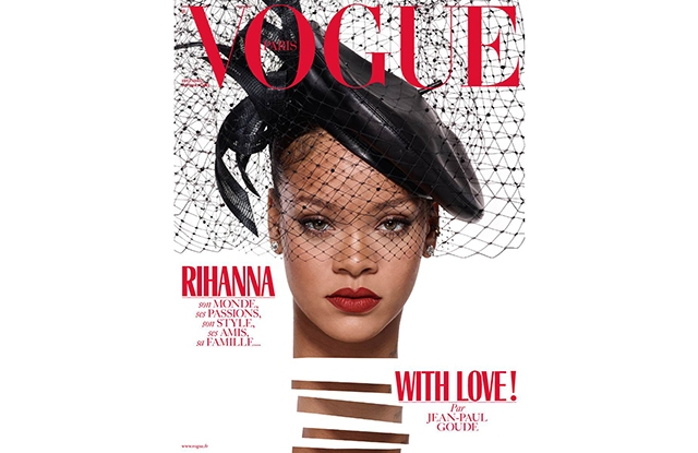 Rihanna shot by Jean-Paul Goude for the December issue of Vogue Paris.