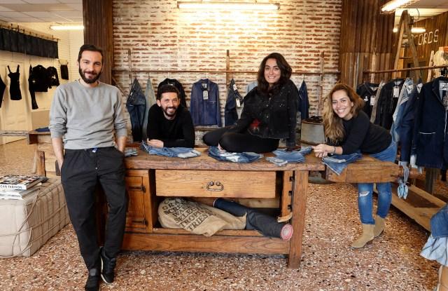 Tiziano Guardini, Isko brand director Fabio Di Liberto, Creative Room designer Selin Akman and Isko senior CSR executive Ebru Özküçük Güler.