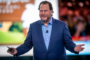 Marc Benioff Keynote. Dreamforce 2017, Salesforce.com's user and developer conference, is held at the Moscone Convention Center and various hotels in San Francisco from November 5-9, 2017. (© Photo by Jakub Mosur Photography)