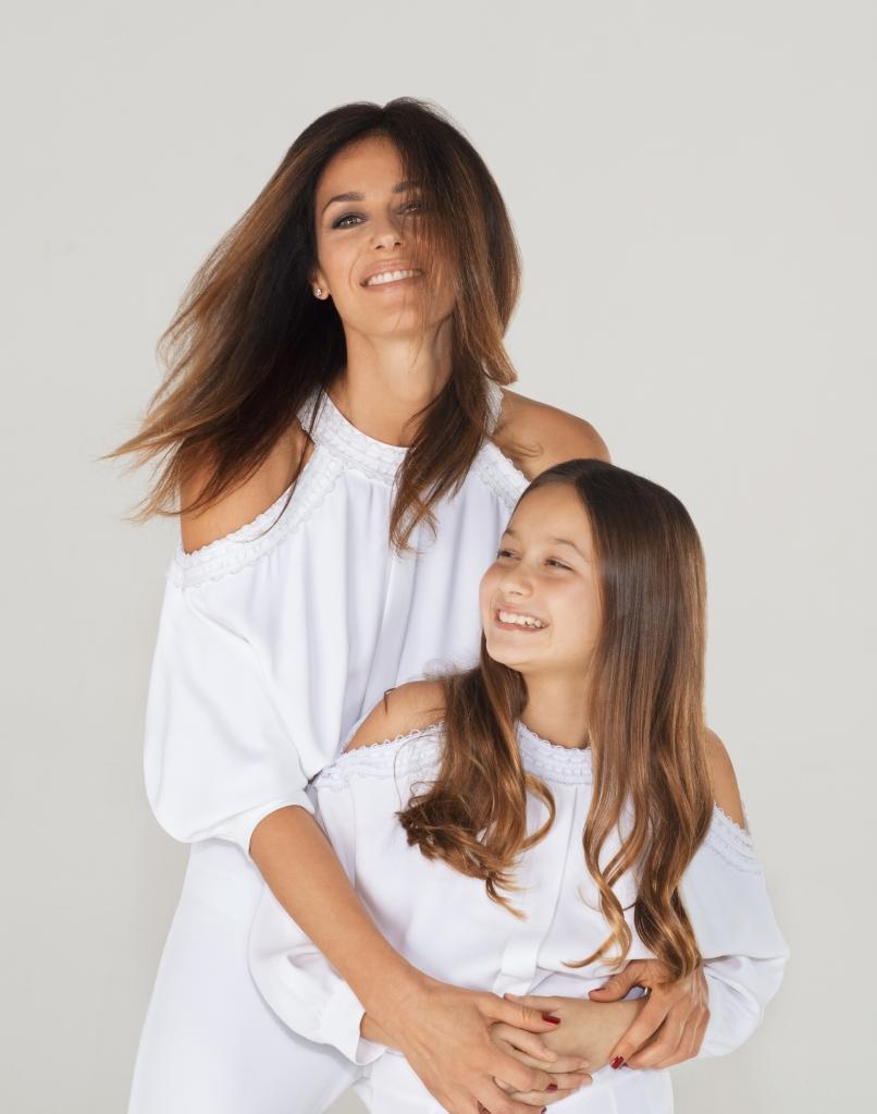 Genny creative director Sara Cavazza Facchini with daughter Angelica.