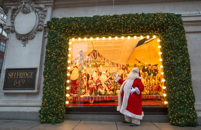 """Selfridges is the first department store in the world to unveil its Christmas windows and full in-store displays led by the theme """"With Love From"""", a celebration of both the cities Selfridges call home, and of people coming together.PHOTO MATT WRITTLE© copyright Matt Writtle 2017."""