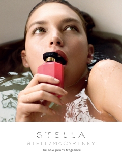 An ad campaign for Stella McCartney's Peony fragrance photographed by Mary McCartney and featuring Arizona Muse