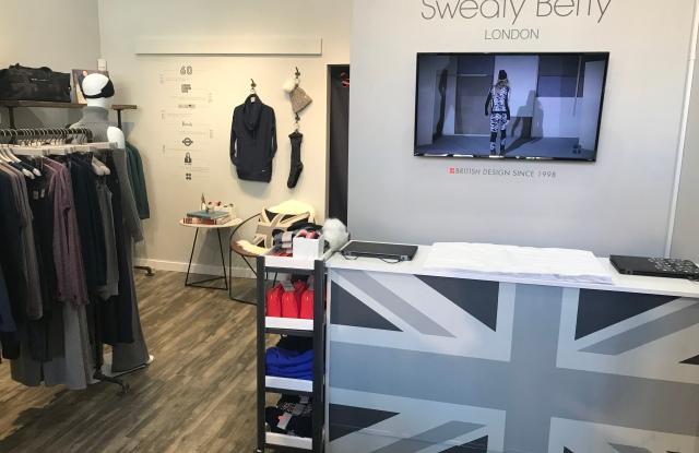 Inside Sweaty Betty's new Aspen boutique.