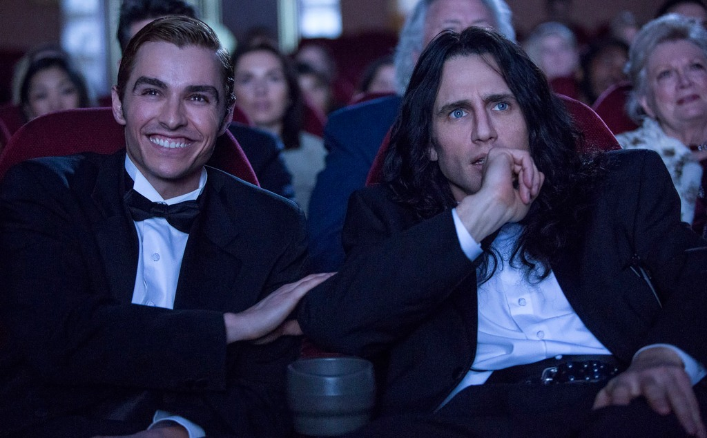 Dave Franco as Greg Sestero and James Franco as Tommy Wisseau.