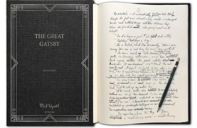 "Original manuscript of ""The Great Gatsby"" by F. Scott Fitzgerald."