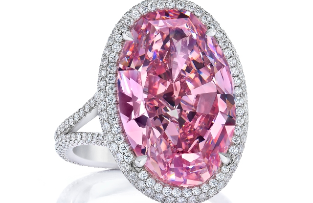 """The Pink Promise"" diamond, which was redesigned by collector Stephen Silver."