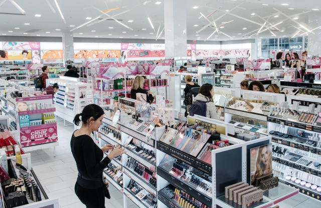 The Ulta Beauty store in Manhattan