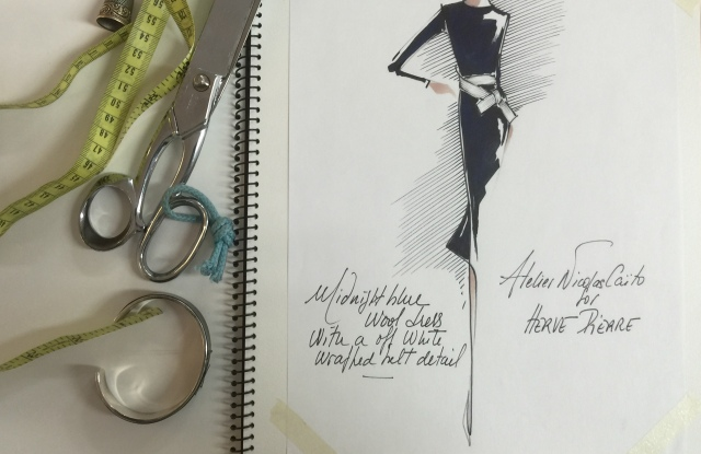 A sketch from the Atelier Caito for Hervé Pierre collection.