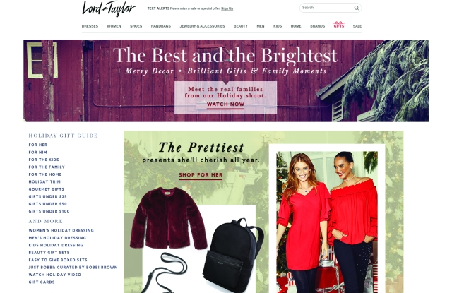 Lord & Taylor's web site.