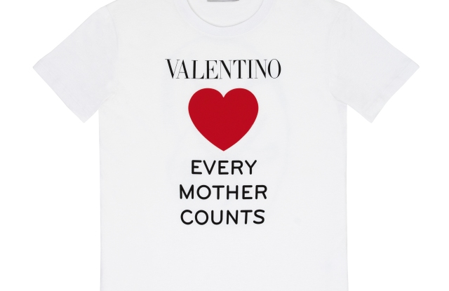 Valentino's Every Mother Counts T-shirt.