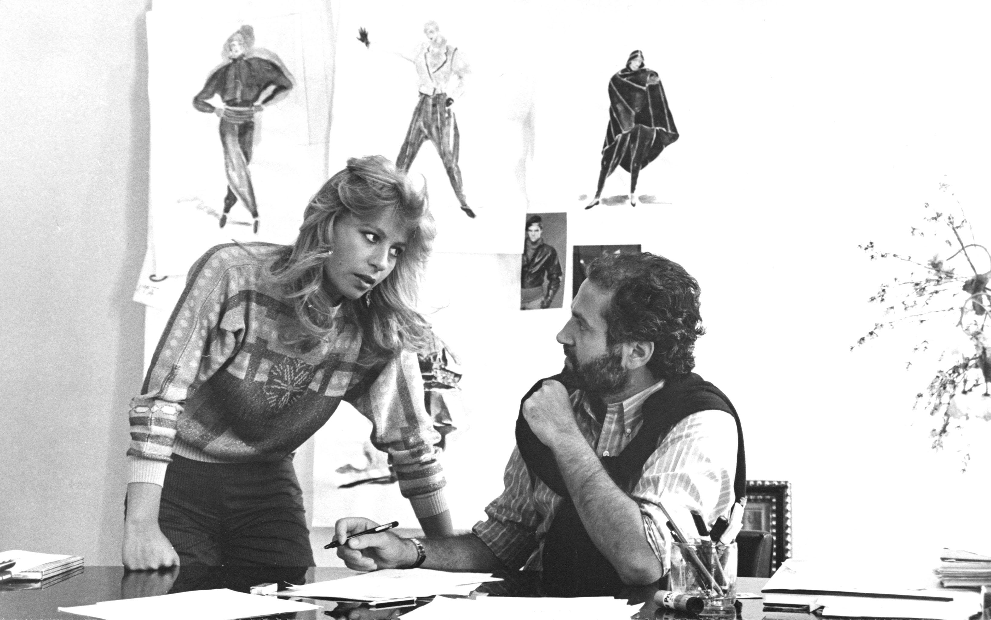 Donatella and Gianni Versace