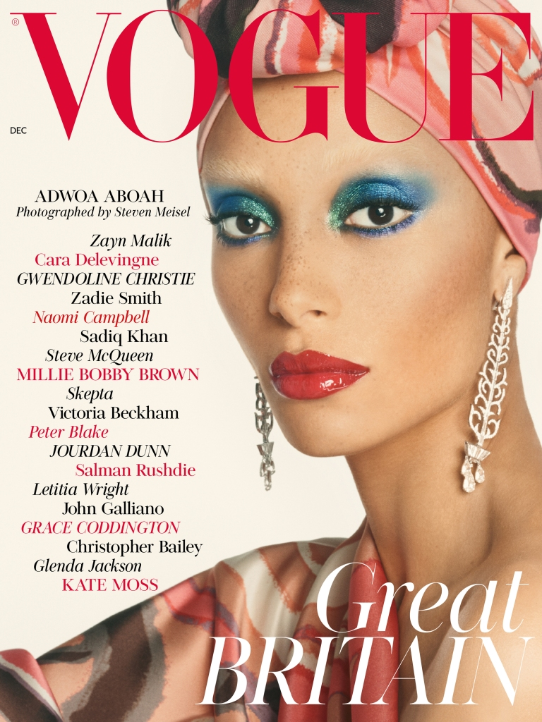 Adwoa Aboah graces the December cover of British Vogue