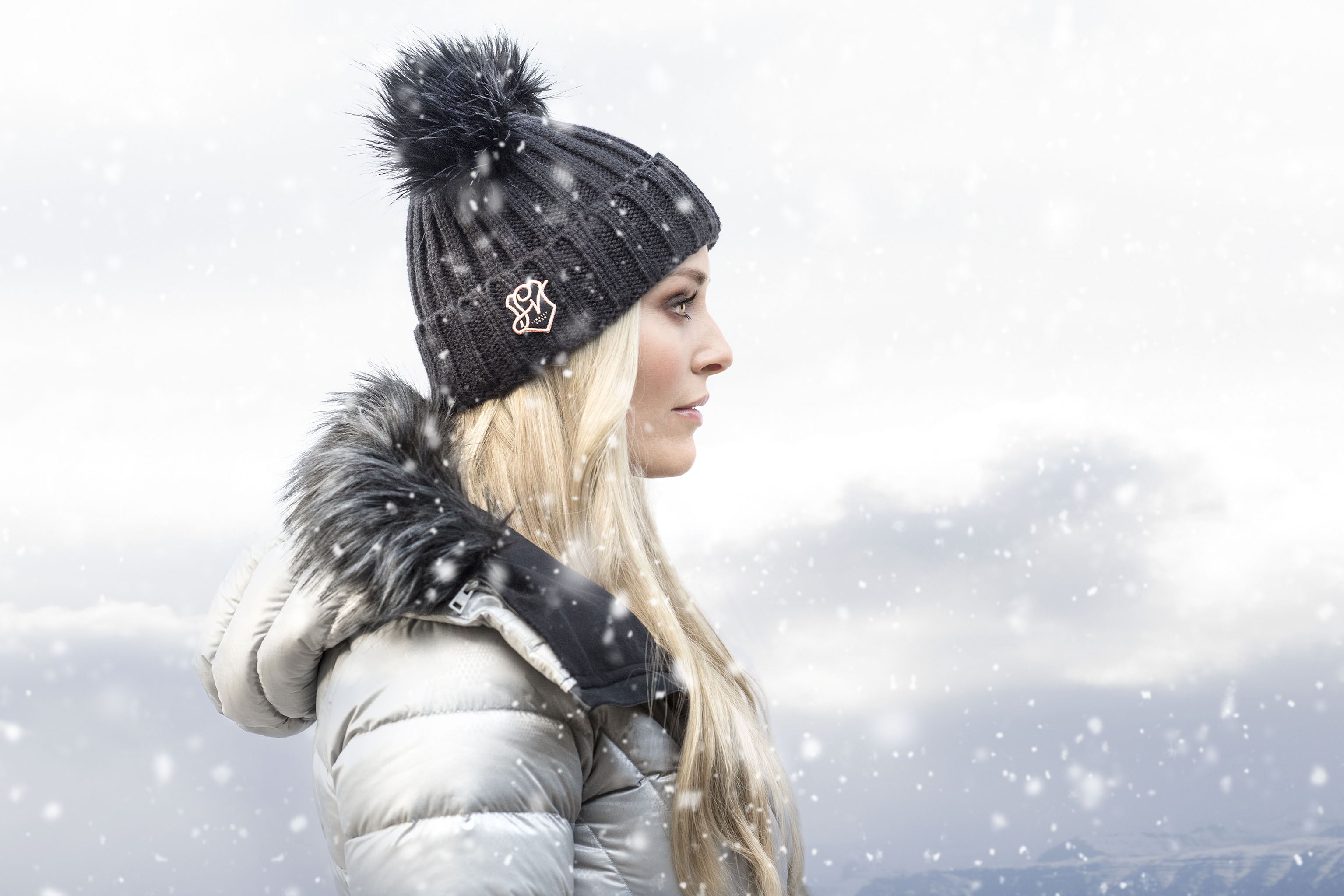 Lindsey Vonn wearing a look from her collection for Under Armour.