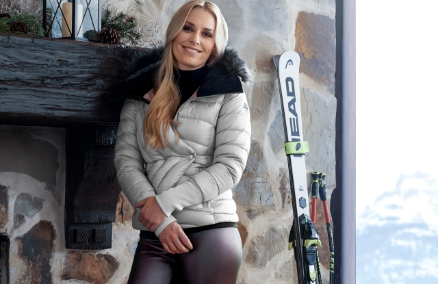 Lindsey Vonn in pieces from her new Under Armour collection.