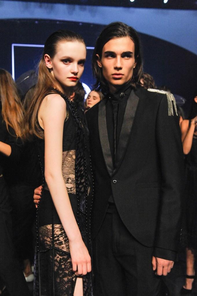 Elite Model Look's winners Valeria Chenskaya and Antonio Freitas.