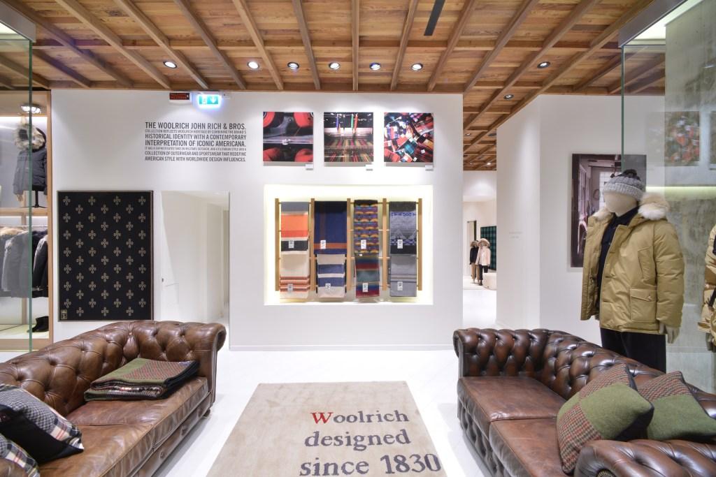 Inside Woolrich Milan's flagship