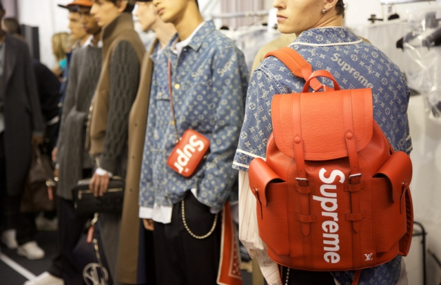 Low went high with luxury streetwear, such as Off-White and Louis Vuitton's Supreme collaboration in 2017.