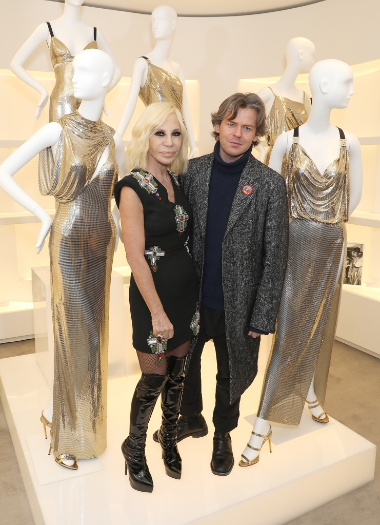 Donatella Versace and Christopher Kane