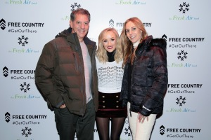 NEW YORK, NY - DECEMBER 19:  (L-R) Ira Schwartz, Olympic Medalist Nastia Liukin, and Jody Schwartz attend the Free Country and The Fresh Air Fund Partnership Celebration at The Rink at Bryant Park on December 19, 2017 in New York City.  (Photo by Cindy Ord/Getty Images for Free Country) *** Local Caption *** Nastia Liukin