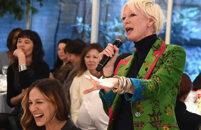 NEW YORK, NY - DECEMBER 11:  Chief Content Officer for Hearst Magazines Joanna Coles speaks during the Hearst 100 at Michael's Restaurant on December 11, 2017 in New York City.  (Photo by Theo Wargo/Getty Images for Hearst Magazines)