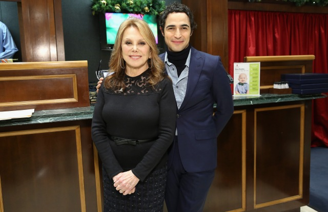Marlo Thomas and Zac Posen, Brooks Brothers' women's creative director.
