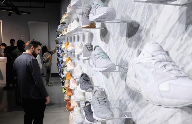 Inside the new Asics store in New York.