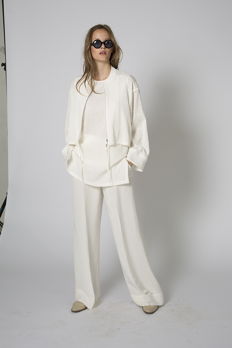 A relaxed pre-fall look from Daniel Wingate's new Wingate collection