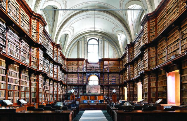 Gucci Places: the Biblioteca Angelica library in Rome.