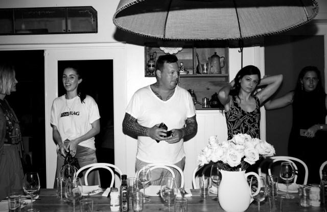 The scene at the Urs Fischer dinner.