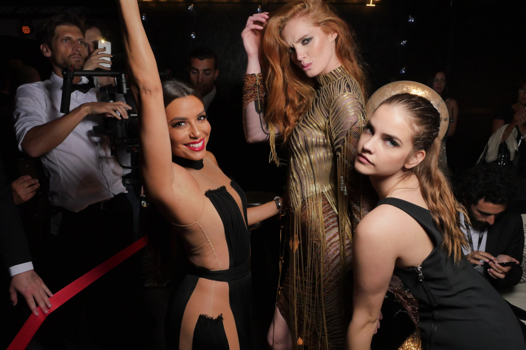 Eva Longoria and Barbara Palvin at the L'OrŽal Paris party during the 70th Cannes Film Festival.