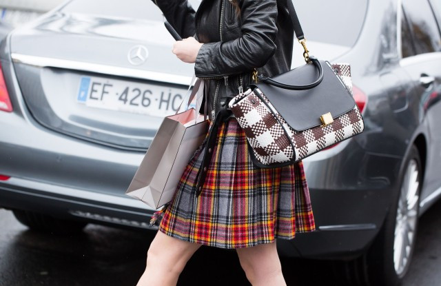 Detail of bagStreet Style, Day 2, Autum Winter 2017, Paris Fashion Week, France - 01 Mar 2017