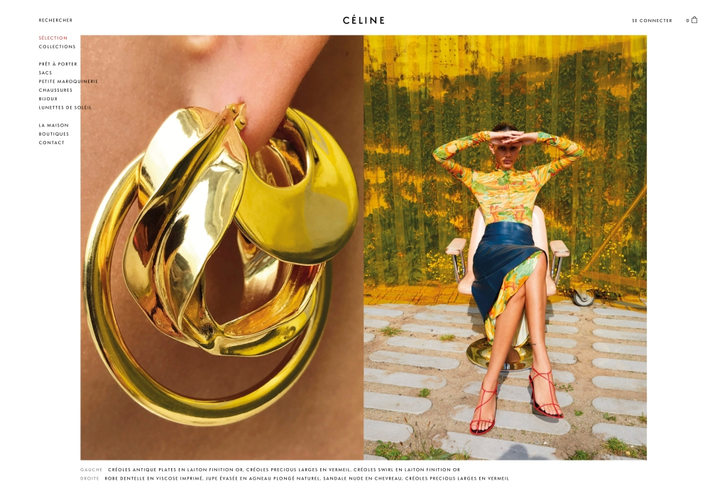 An image from Céline's new e-commerce site.