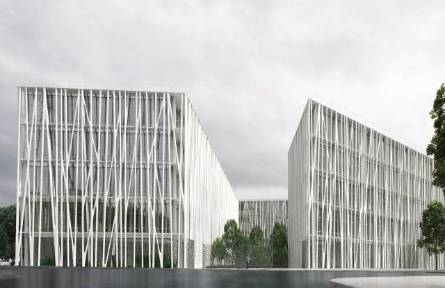 Rudy Ricciotti's design for the future Chanel Métiers d'Art establishment near Paris.