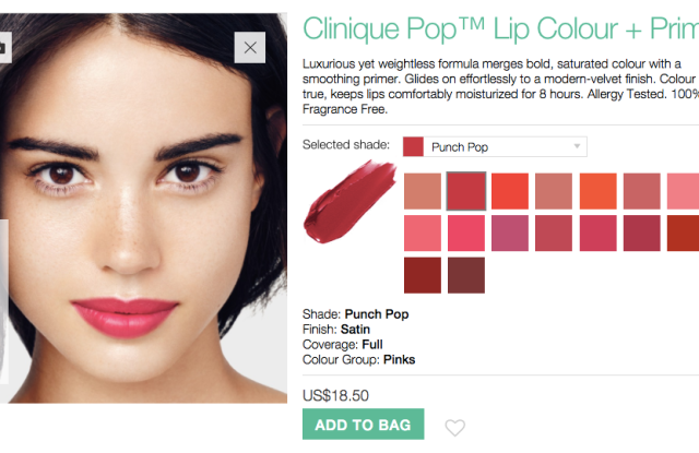 Clinique is one of the latest to use ModiFace technology.