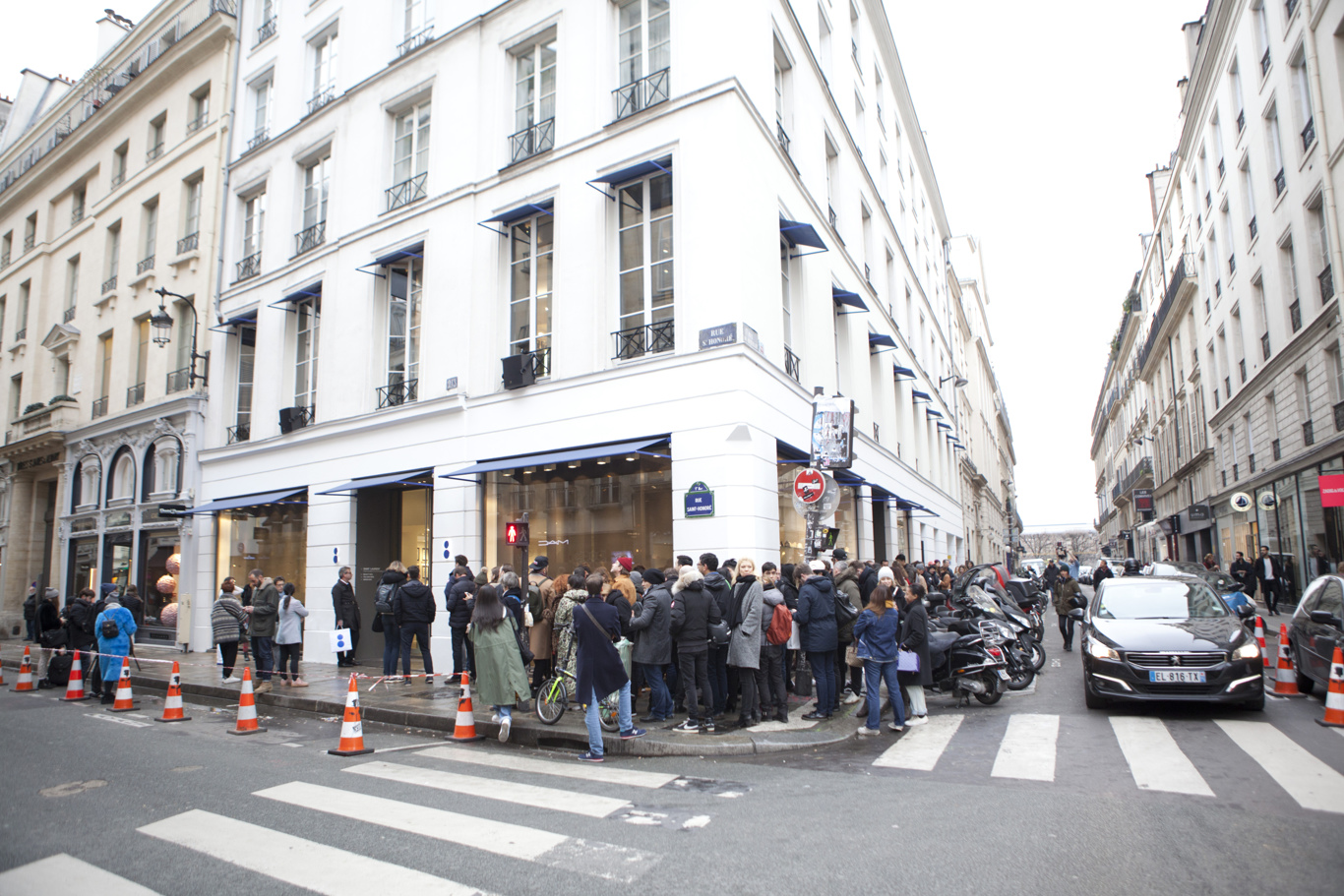 The queue at Colette Wednesday.